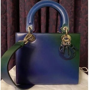 Dior lady Dior medium blue green